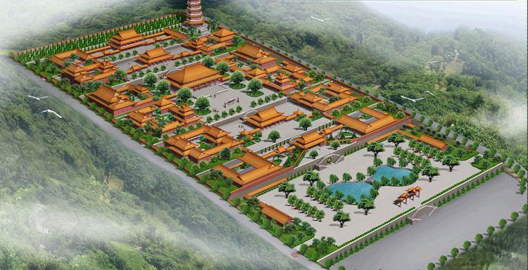 二祖寺庙规划设计