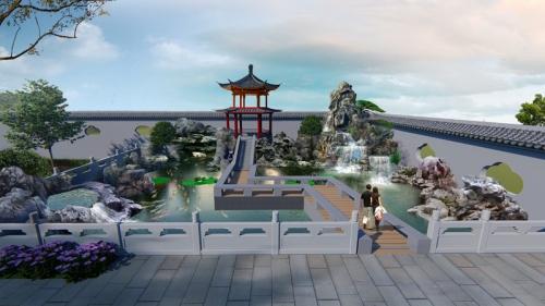 上饶中式庭院改造设计