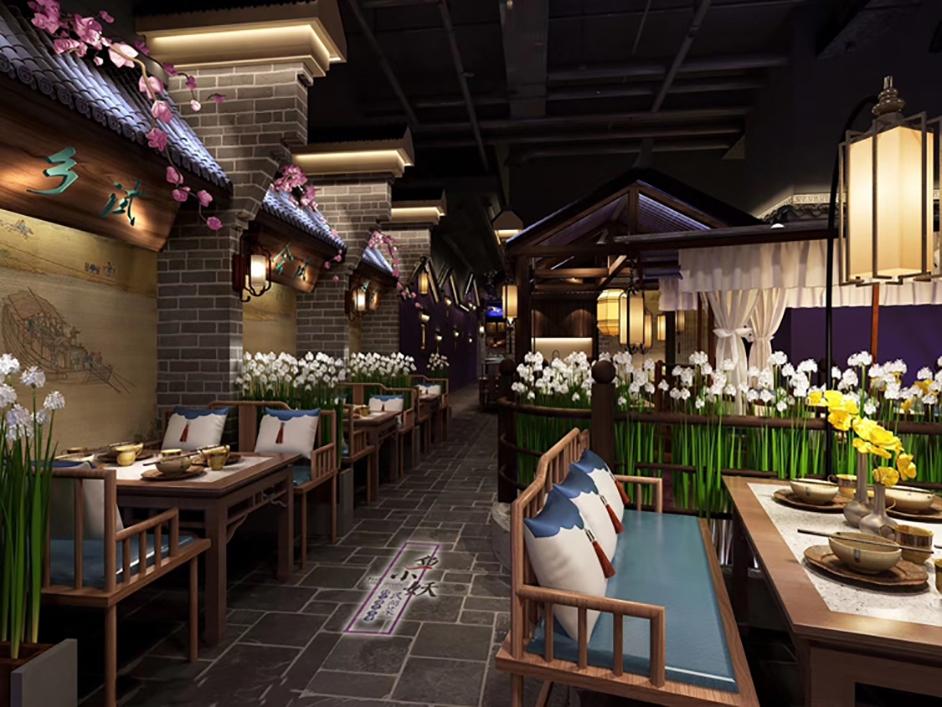 江南酒肆仿古餐厅设计